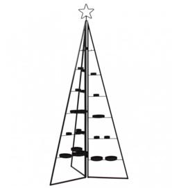 Vouwbare boom met kaarsenhouders | metaal zwart
