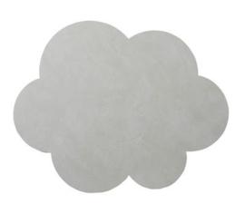 Lederen placemat cloud | metallic