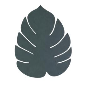 Lederen placemat leaf | dark green