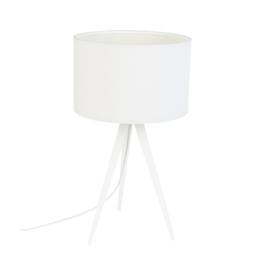Driepoot met lampenkap | wit
