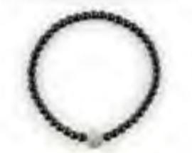 Armband zwart rosé diamanten bol