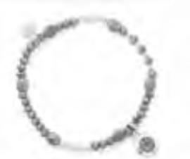 Armband diamant grijs