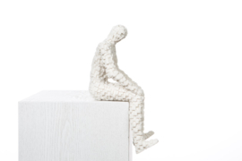 Mozaïekman zittend | wit