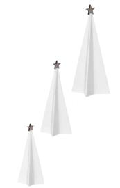 Kerstbomen ster porselein set 3