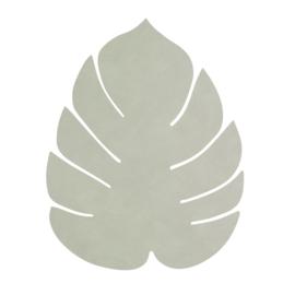 Lederen placemat leaf | olive green