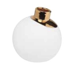 Sneeuwbal vaas |goud