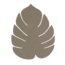 Lederen placemat leaf | army green