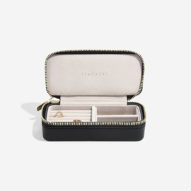 stackers travel jewellery box black