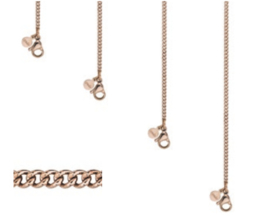 Ketting link chain | rosé goud