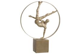 Beeld acrobaat in cirkel
