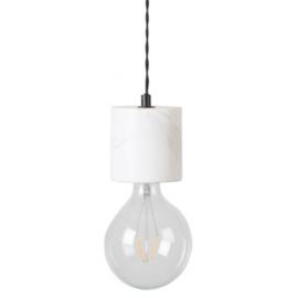 Marmeren voet voor globe hanglamp | wit