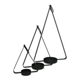 Kandelaar set 3 | zwart