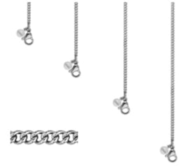 Ketting link chain | zilver
