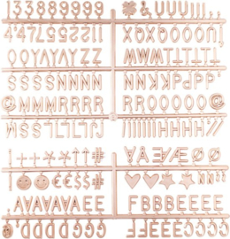 Letterset 2,5cm voor letterboard | rosé