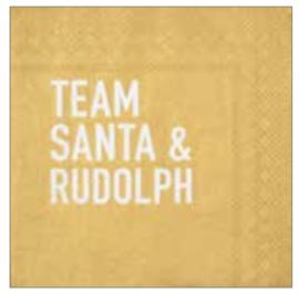Serviette Team Santa & Rudolph