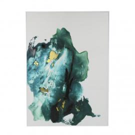 Canvas blauw goud