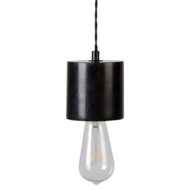 Marmeren voet voor globe hanglamp | zwart