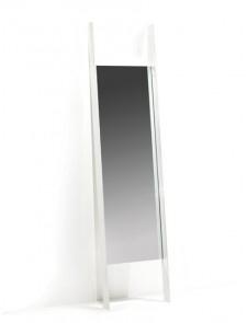 Schuine wandspiegel | wit