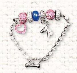 Bracelet Breloques à strass Rose/Bleu