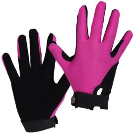 QHP Mesh handschoenen Fuchsia/Zwart