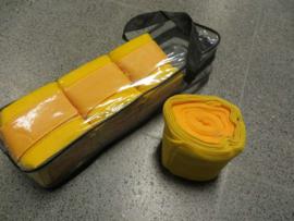 Elastische bandages met onderlap Geel