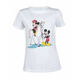Disney T-shirt Minnie Mouse and Micky Mouse Lichtgrijs Mélange