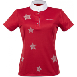 EQUITHÈME Shirt Etoiles korte mouwen Rood