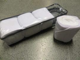 Elastische bandages met onderlap Wit