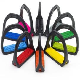 COMPOSITI Gekleurde beugelzolen voor Premium stijgbeugels Adult