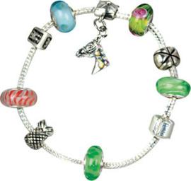 Bracelet Breloques Vert