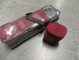 Elastische bandages met onderlap Bordeaux