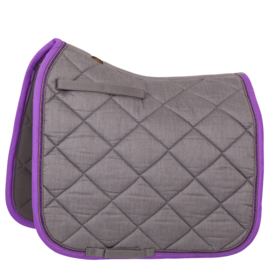 BR - Zadeldoek Melange Exclusive dressuur M.Grey/Purple