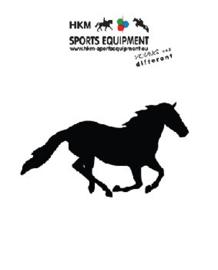 Autosticker galoperend paard