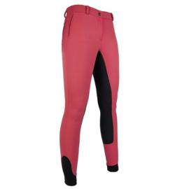 HKM Rijbroek Oregon dames Pink/Zwart silikon zitvlak
