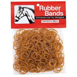 Manenvlecht elastiekjes Natural