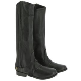 EQUITHÈME Minichaps Leather Zwart