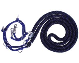 QHP - Luxe longeerhulptouw Blauw/Zwart
