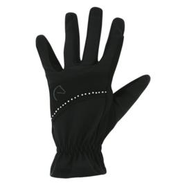 EQUITHÈME Strass handschoenen Zwart