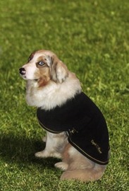 EQUITHÈME Fleece hondendeken Zwart/Goud