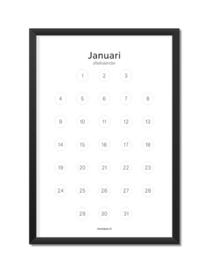 Aftelkalender JAAR (12 maanden)