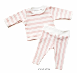 New Born Set Vertical Pink (organic)