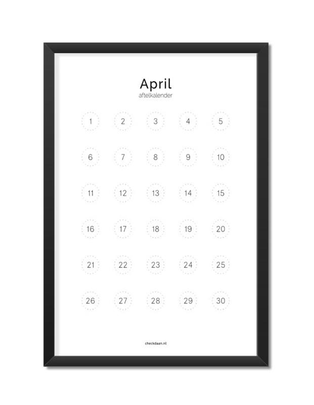 Aftelkalender maart/april A4