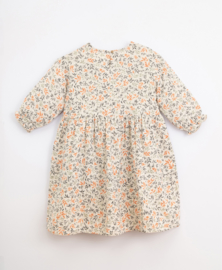 Play Up - Cotton Dress with Branches Print Miro