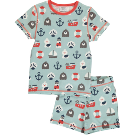 Maxomorra - Pyjama Set Short Sleeve Seashell