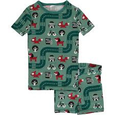 Maxomorra - Pyjama Set Short Sleeve Slim Big City