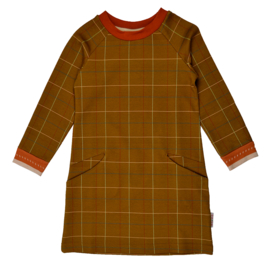 Baba - Pocket Dress Checked Mustard