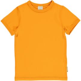 Maxomorra Classic -  Short Sleeve Top Solid Tangerine