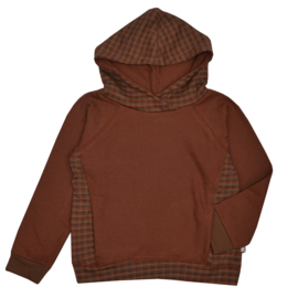 Baba - Hooded Sweater Jacquard Brown Dots