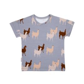 Malinami - T-Shirt Lama on Light Grey