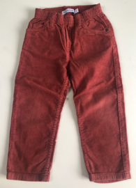 Filou - Dark Red Rib Velours Pants 2 jaar